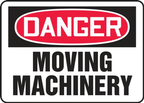 Danger - Moving Machinery - Accu-Shield - 10'' X 14''