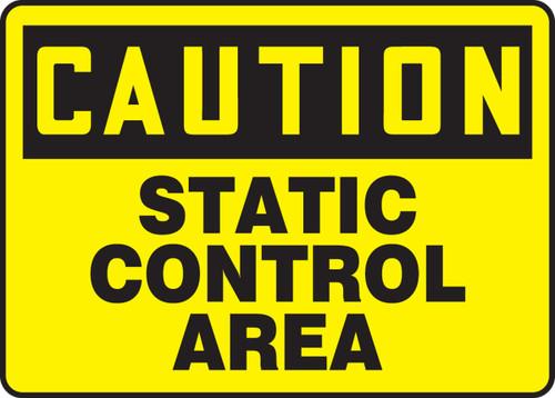 Caution - Static Control Area