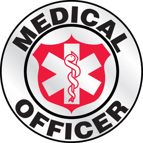 """Medical Officer Helmet Label- 2 1/4"""" Priced By The Each"""