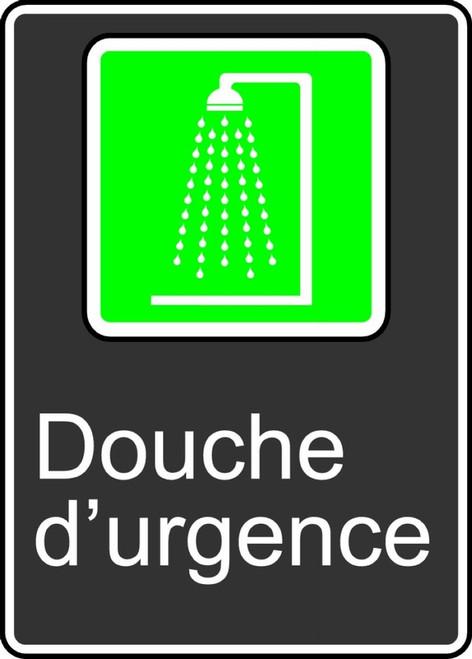 Emergency Shower (Douche D'Urgence) - Adhesive Vinyl - 14'' X 10''