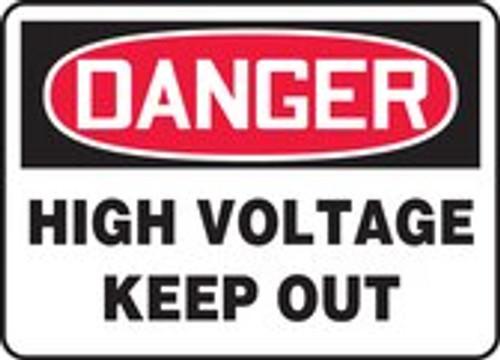 Danger - Keep Out - Adhesive Dura-Vinyl - 7'' X 10''