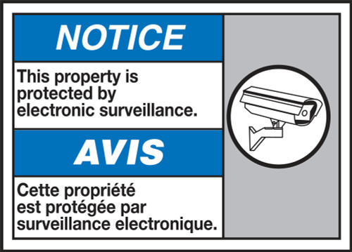 Notice This Property Is Protected By Electronic Surveillance (W/Graphic)