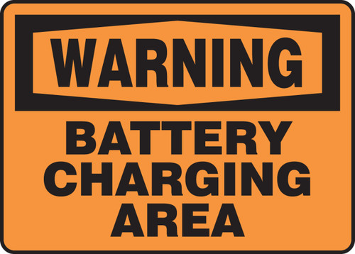 Warning - Battery Charging Area - Aluma-Lite - 10'' X 14''