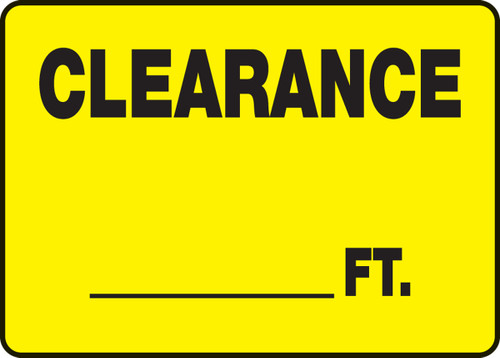 Clearance ___ Ft. 1