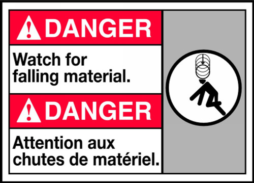 Danger Watch For Falling Material (W/Graphic)