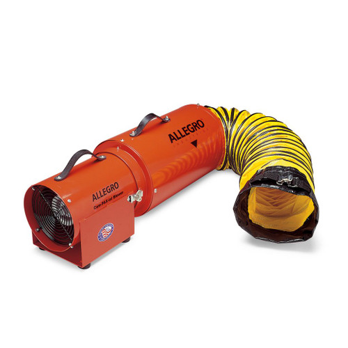 """Allegro 9534-15 8"""" Axial AC Metal Com-PAX-ial Blower w/ Canister & 15' Ducting"""
