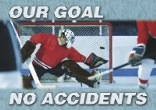 Changeable Sign Floor Mat- Our Goal No Accidents (hockey)