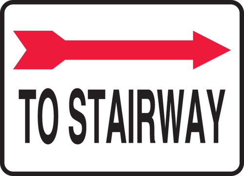 To Stairway Sign- Arrow Right
