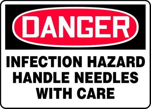 Danger - Infection Hazard Handle Needles With Care