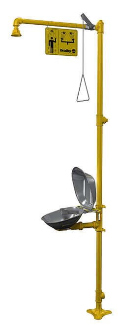 Bradley S19314DC Emergency Shower/Eyewash Unit with Eyewash Cover