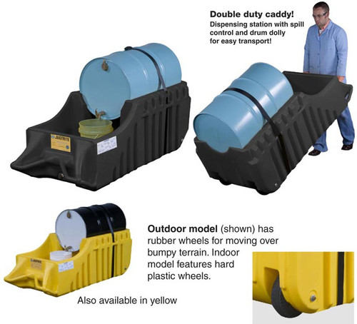 Spill Containment Caddy by Justrite- outdoor