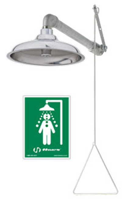 Haws 8133H Corrosion Resistant Drench Shower- all stainless steel- horizontal