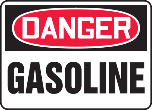 Danger - Gasoline - Adhesive Dura-Vinyl - 14'' X 20''