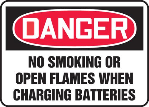 Danger - No Smoking Or Open Flames When Charging Batteries