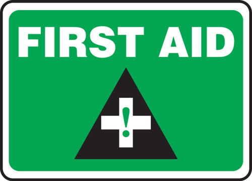 First Aid (W-Graphic) - .040 Aluminum - 10'' X 14''