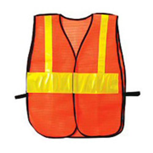 Orange PVC Coated Signage Safety Vest (Set of 3 Safety Vests)