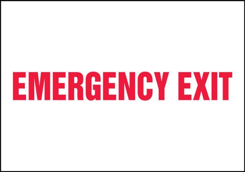 Emergeny Exit - Adhesive Vinyl - 4'' X 18''