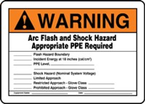 Warning Arc Flash And Shock Hazard Appropriate Ppe Required 2