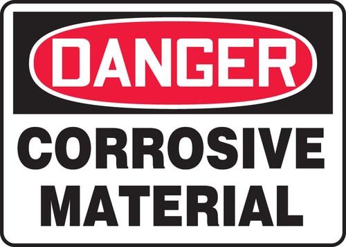 Danger Corrosive Materials (Danger Matieres Corrosives) - Adhesive Vinyl - 14'' X 10'' 1