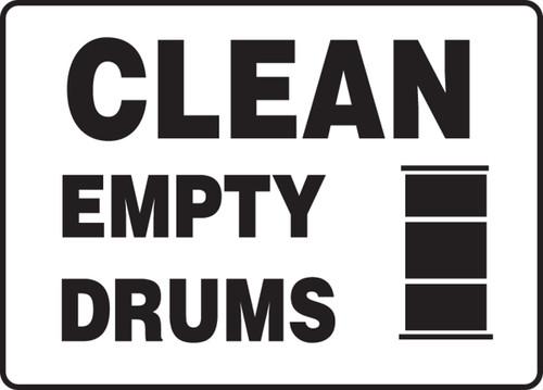 Clean Empty Drums (W/Graphic) - Dura-Plastic - 7'' X 10''