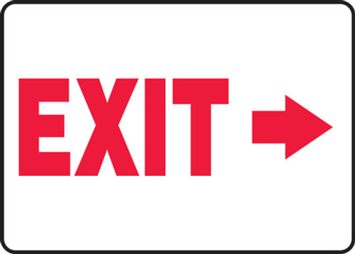 Exit (Arrow Right) - Adhesive Dura-Vinyl - 10'' X 14''