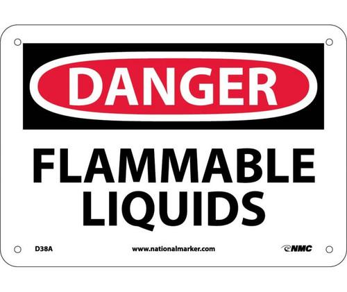 Danger - Flammable Liquids - .040 Aluminum - 7'' X 10''