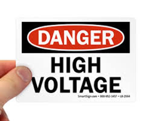 Danger - High Voltage - Re-Plastic - 18'' X 24''