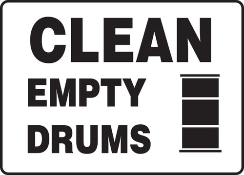 Clean Empty Drums (W/Graphic) - Adhesive Vinyl - 7'' X 10''