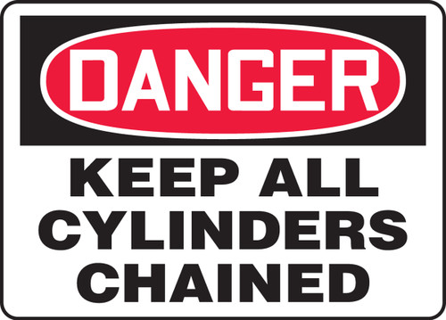Danger Keep All Cylinders Chained
