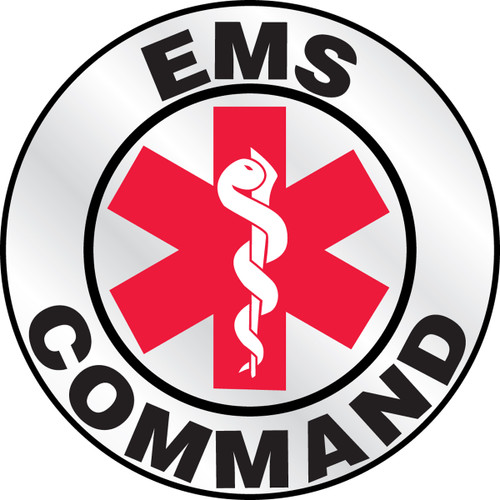 """Ems Command Helmet Label- 2 1'4"""" Priced By The Each"""
