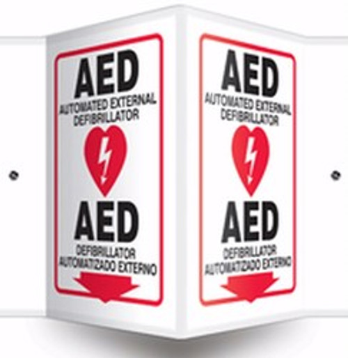 "AED Sign- Spanish AED Sign- 3D- 12"" x 9"" panel"