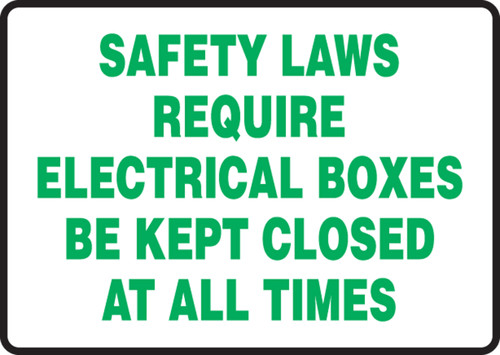 Safety Laws Require Electrical Boxes Be Kept Closed At All Times