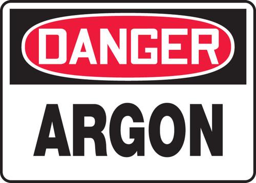 Danger - Argon - .040 Aluminum - 10'' X 14''