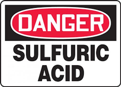 Danger - Sulfuric Acid - Adhesive Vinyl - 10'' X 14''