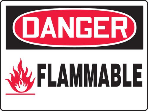 MCHL159 Danger Flammable Big Safety Sign