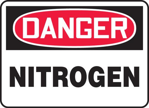 Danger - Nitrogen - .040 Aluminum - 10'' X 14''