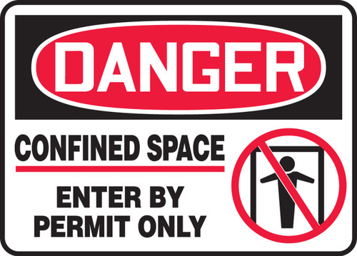 Danger - Confined Space Enter By Permit Only Sign