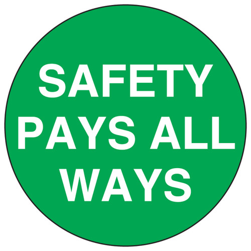 Safety Pays All Ways Hard Hat Label