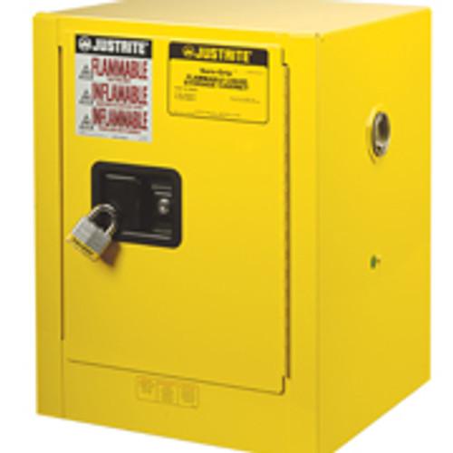 Justrite Yellow Countertop Safety Cabinet 4 gallon