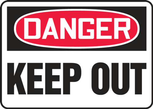 Danger - Keep Out - Plastic - 10'' X 14''
