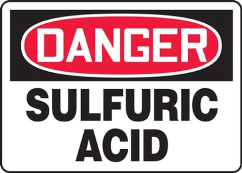 Danger - Sulfuric Acid - Accu-Shield - 10'' X 14''