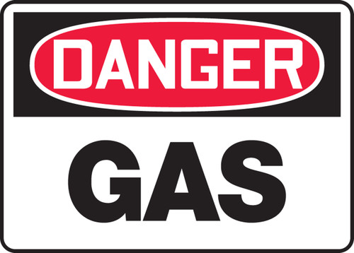 Danger - Gas - Accu-Shield - 10'' X 14''