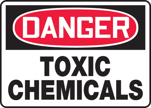 Danger - Toxic Chemicals - Accu-Shield - 10'' X 14''