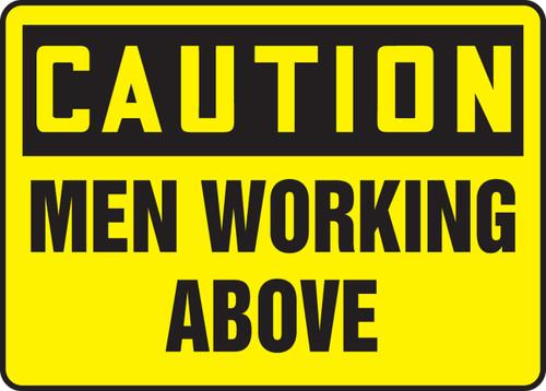 Men Working Above Sign