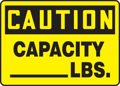 Caution - Capacity ___ Lbs.