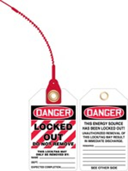 Danger Locked Out Loop Safety Tag