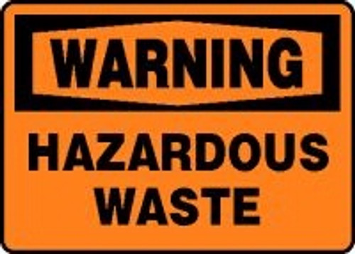 Warning - Hazardous Waste