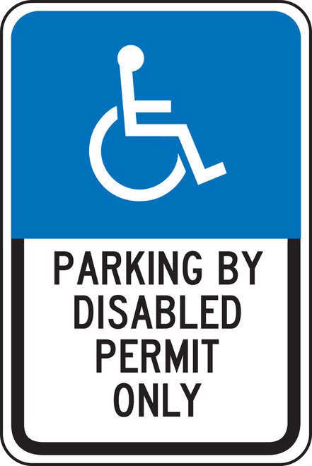 Parking By Disabled Permit Only Sign - Florida