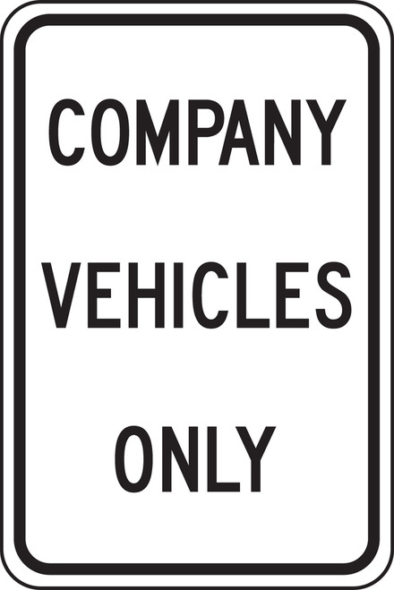 Company Vehicles Only (black/white)