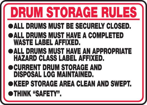 Drum Storage Rules ...